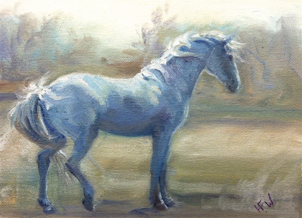 """""""Windy Morning"""" original fine art by H.F. Wallen"""