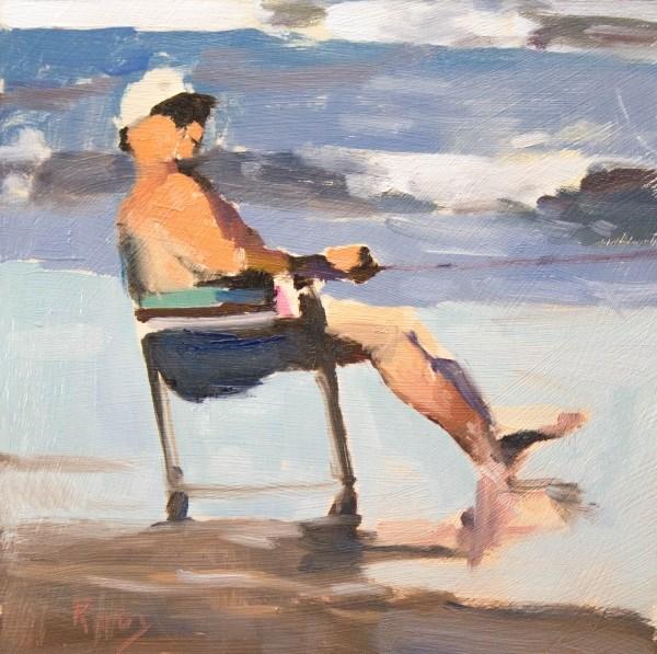 """Surfside Fishing"" original fine art by Randall Cogburn"
