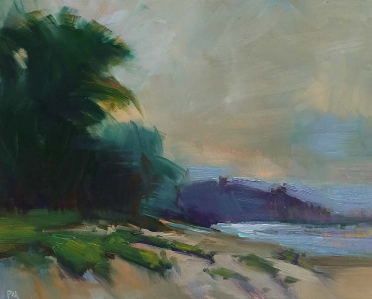 """Lanikai Sunset"" original fine art by Patti McNutt"