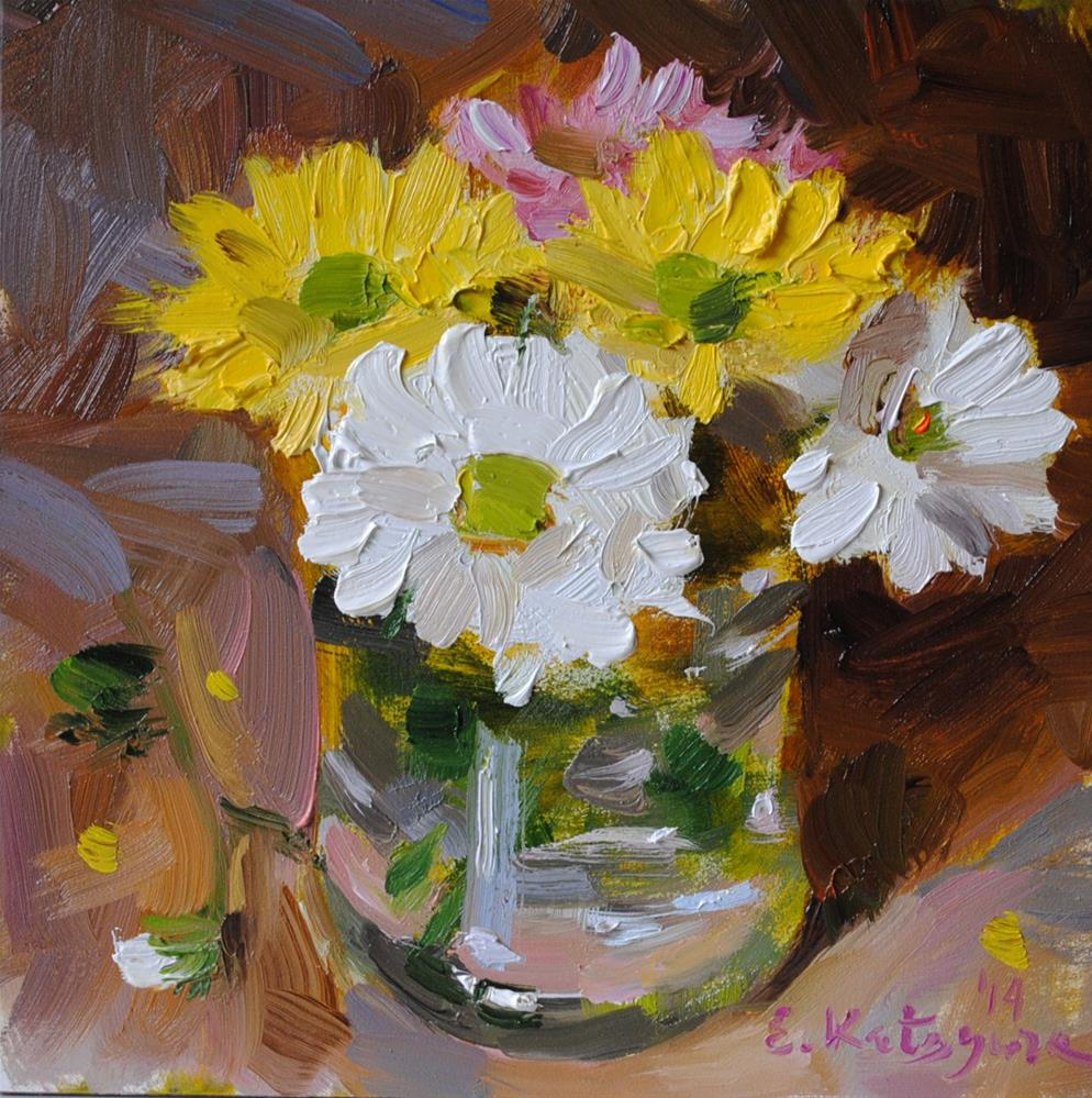 """Little Bouquet"" original fine art by Elena Katsyura"