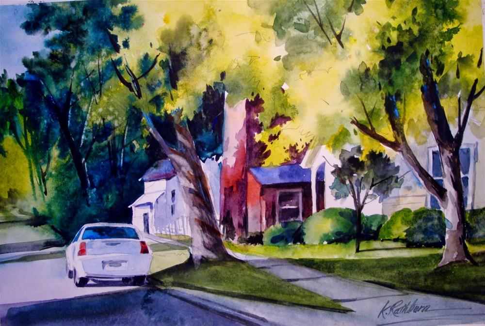 """Summer Shadows"" original fine art by Kathy Los-Rathburn"