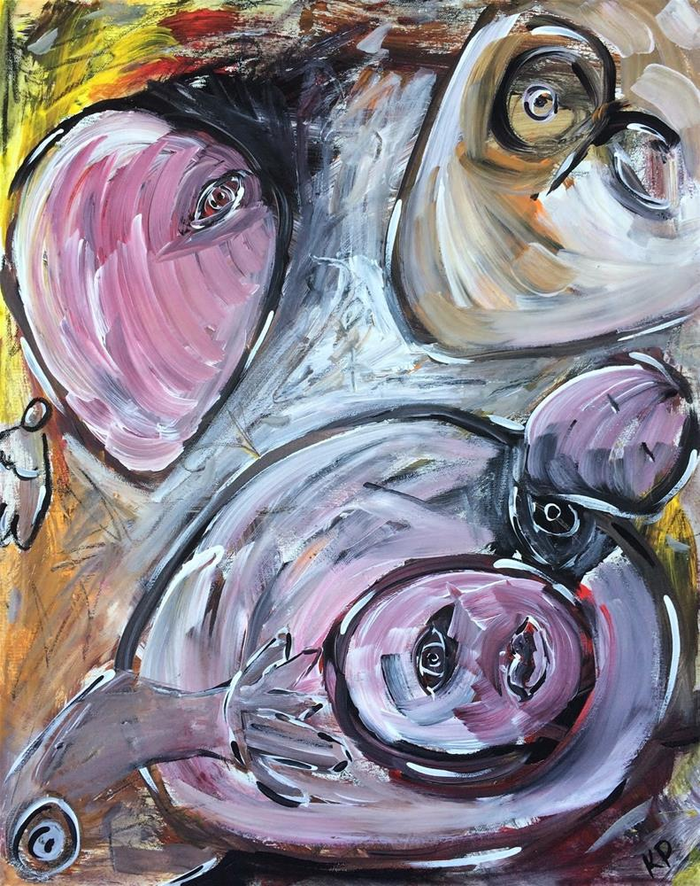 """""""Dark Side"""" original fine art by Kali Parsons"""