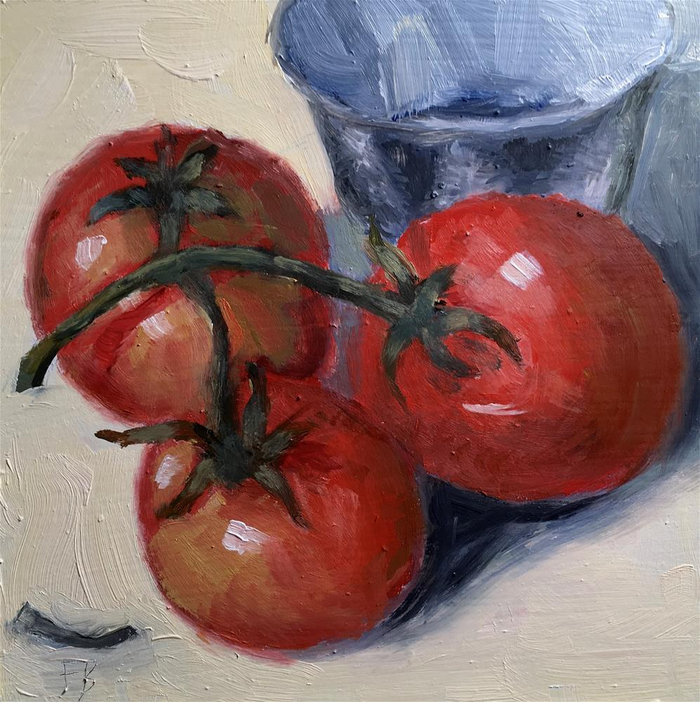 """074 Three Tomatoes"" original fine art by Fred Bell"