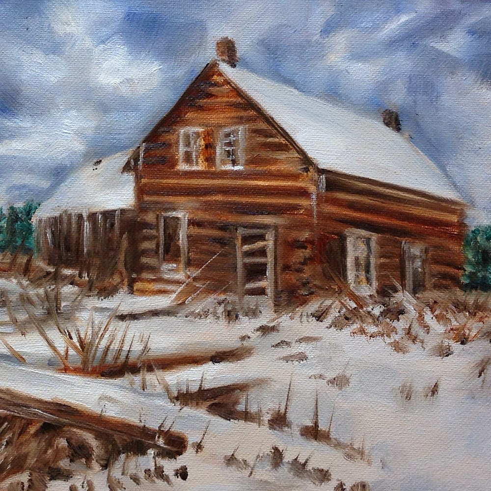 """Out in the Snow"" original fine art by Linda Lowery"