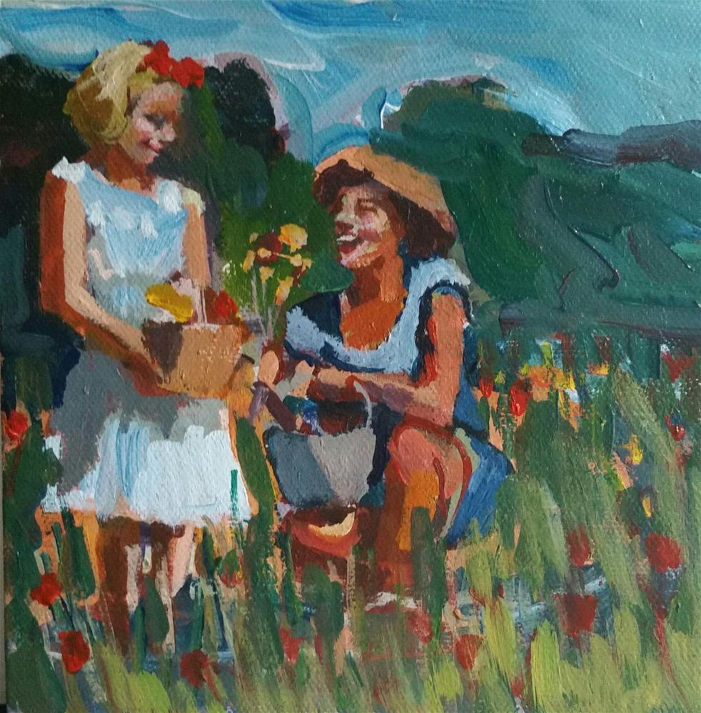 """A Day With Mom"" original fine art by Liz Maynes"