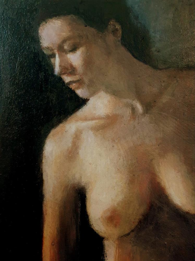 """Nude  4"" original fine art by David Larson Evans"