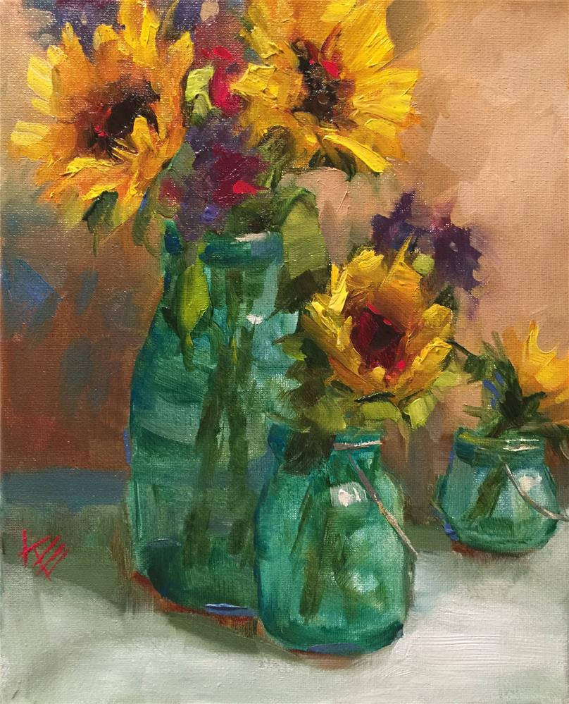 """Sunflower Medley"" original fine art by Krista Eaton"