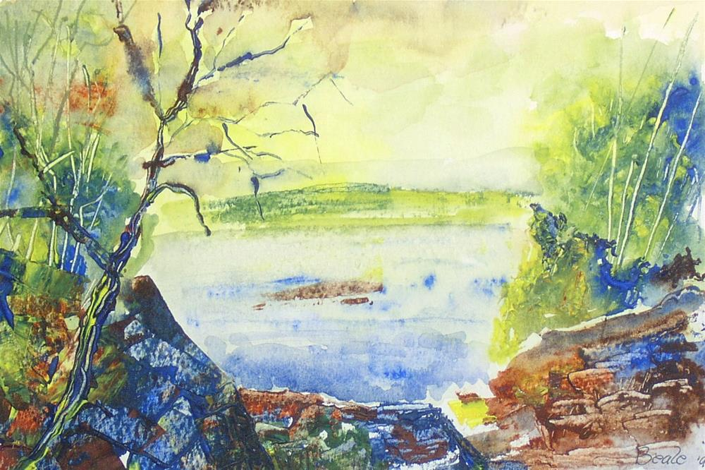 """Dryden Lake"" original fine art by  David Beale"