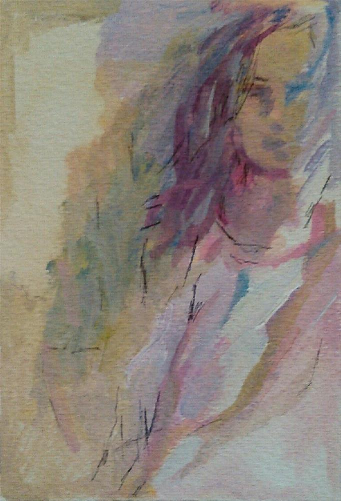 """Wendy Again"" original fine art by Ann Rudd"