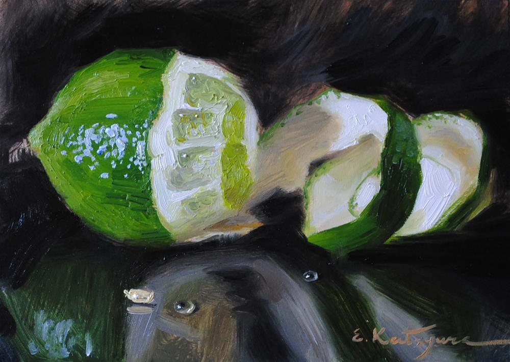 """Lime"" original fine art by Elena Katsyura"