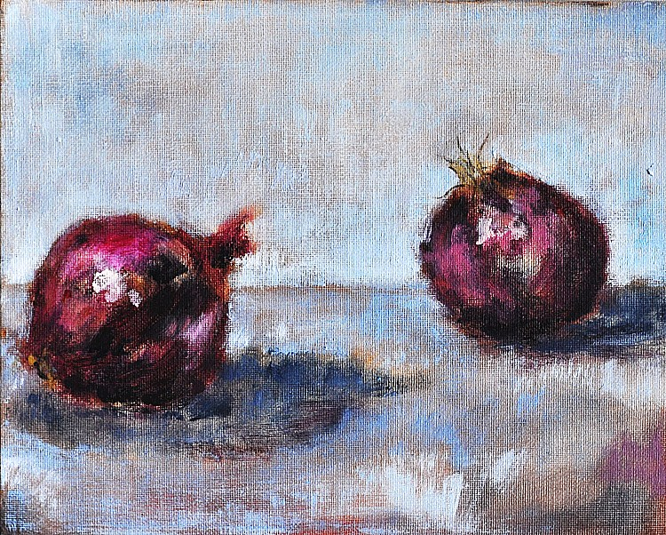 """Darling Onions of May"" original fine art by Kevin Inman"