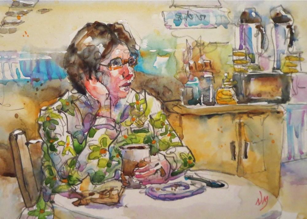 """take a moment"" original fine art by Nora MacPhail"