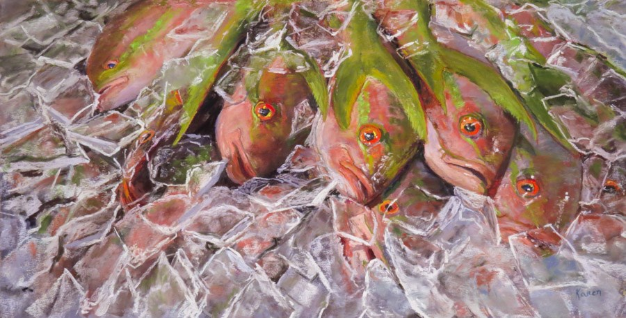 """Just One Catch"" original fine art by karen israel"