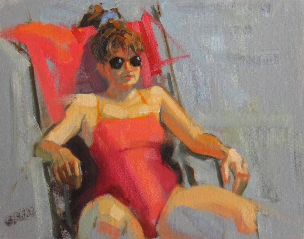 """Sunning 11 x 14  oil"" original fine art by Claudia Hammer"