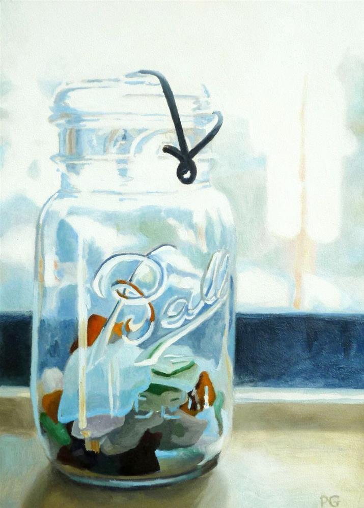 """Sea Glass"" original fine art by Pam Greene"