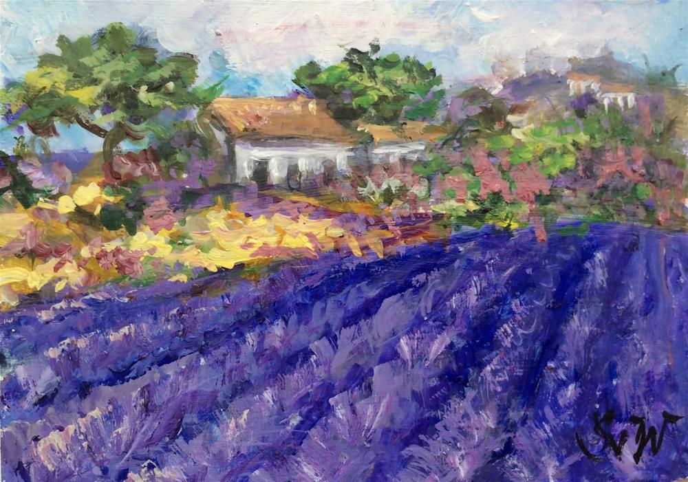 """Provence farmhouse"" original fine art by Sonia von Walter"