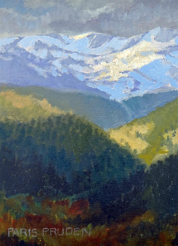 """Mountain Light"" original fine art by Nancy Paris Pruden"
