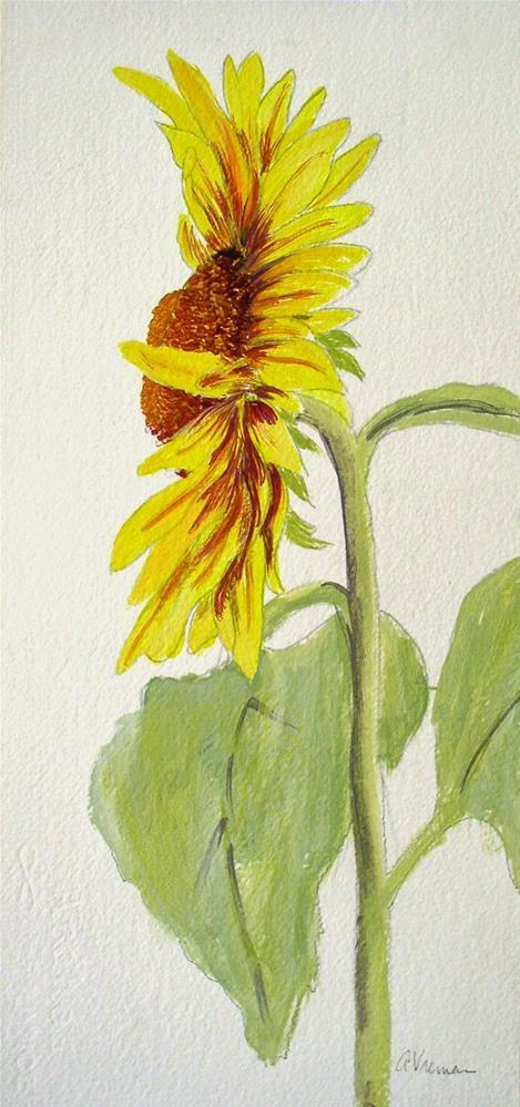 """""""Sunflower #1"""" original fine art by Anna Vreman"""
