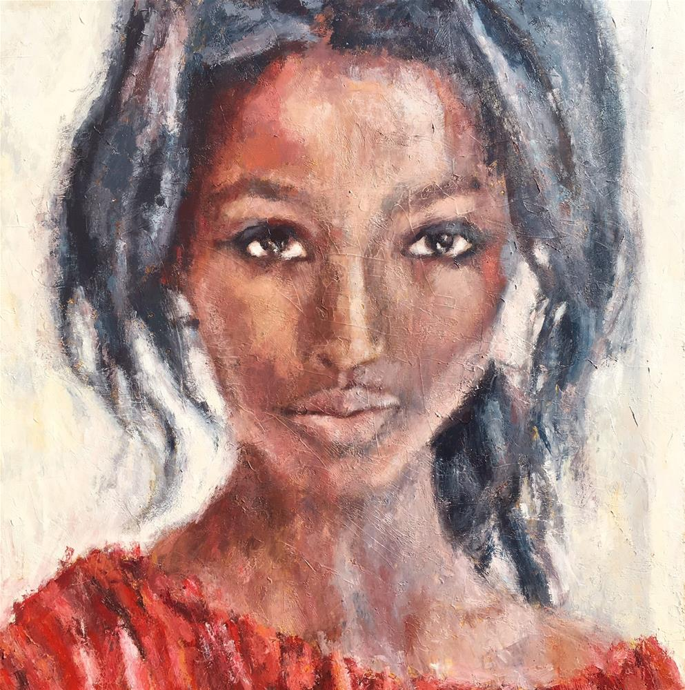 """""""For Her Eyes Only"""" original fine art by Nava Judith"""