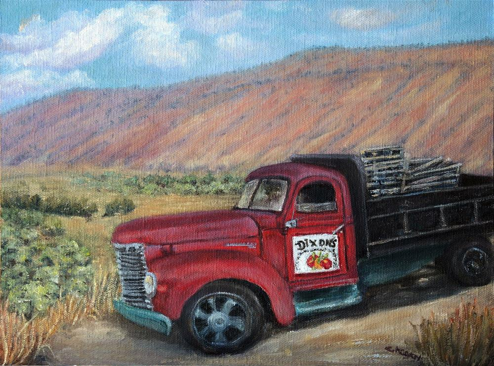 """Dixons Apple Orchard"" original fine art by Candi Hogan"