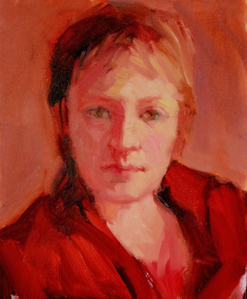 """Girl in Red"" original fine art by Kathryn Townsend"
