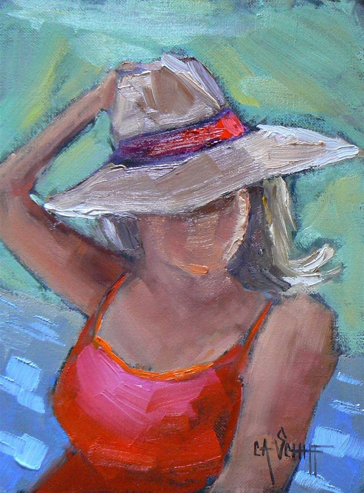 """Figurative Painting, Boat Ride, 6x8 Oil"" original fine art by Carol Schiff"