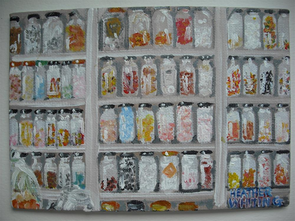 """Sweetie Shop Sweetie Jars"" original fine art by Heather Whiting"