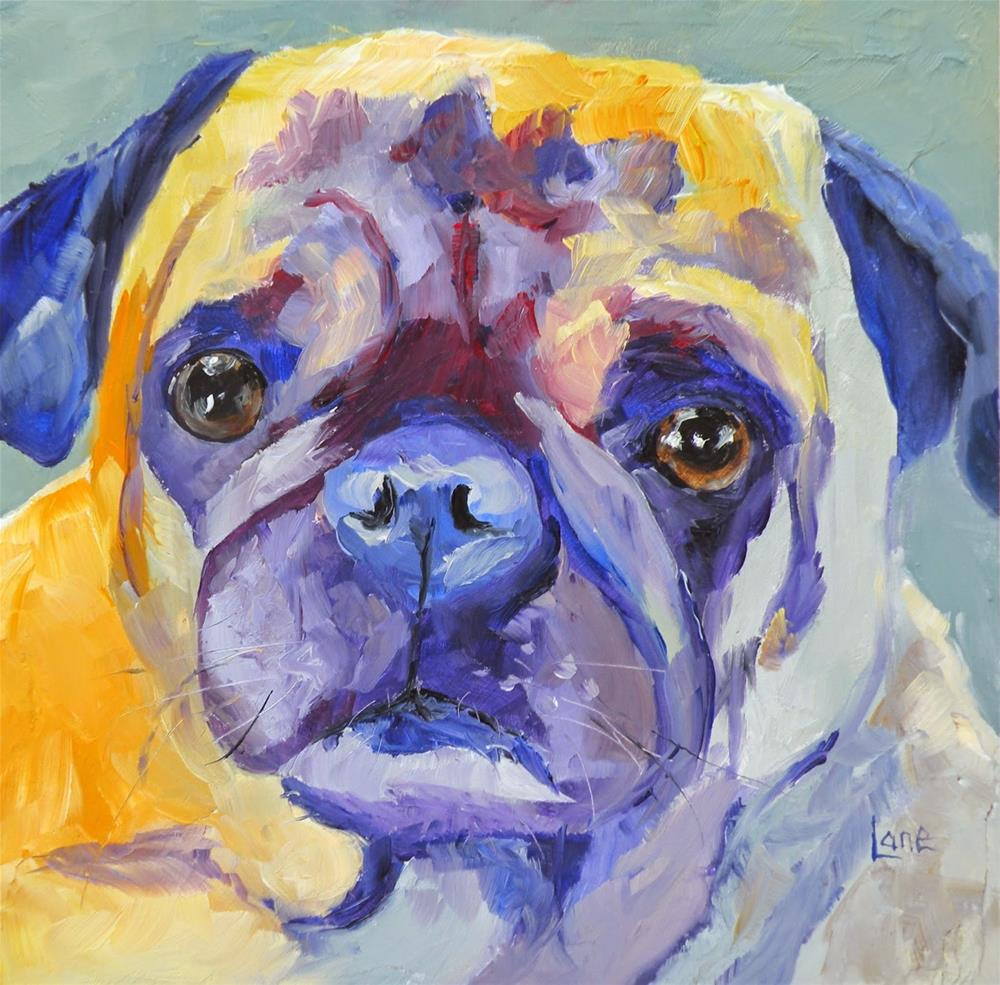"""NELSON 44/100 OF 100 PET PORTRAITS IN 100 DAYS © SAUNDRA LANE GALLOWAY"" original fine art by Saundra Lane Galloway"