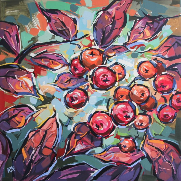 """Rowan Berries 24"" original fine art by Roger Akesson"