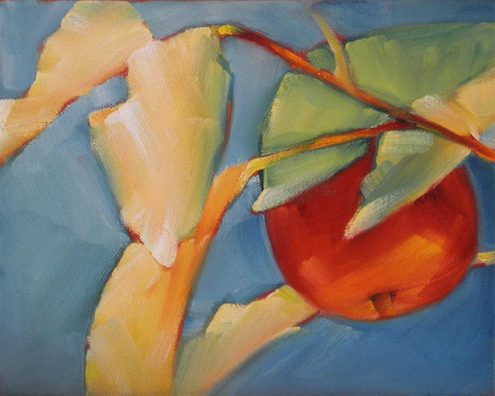 """Bright Apple"" original fine art by Cheryl Wilson"