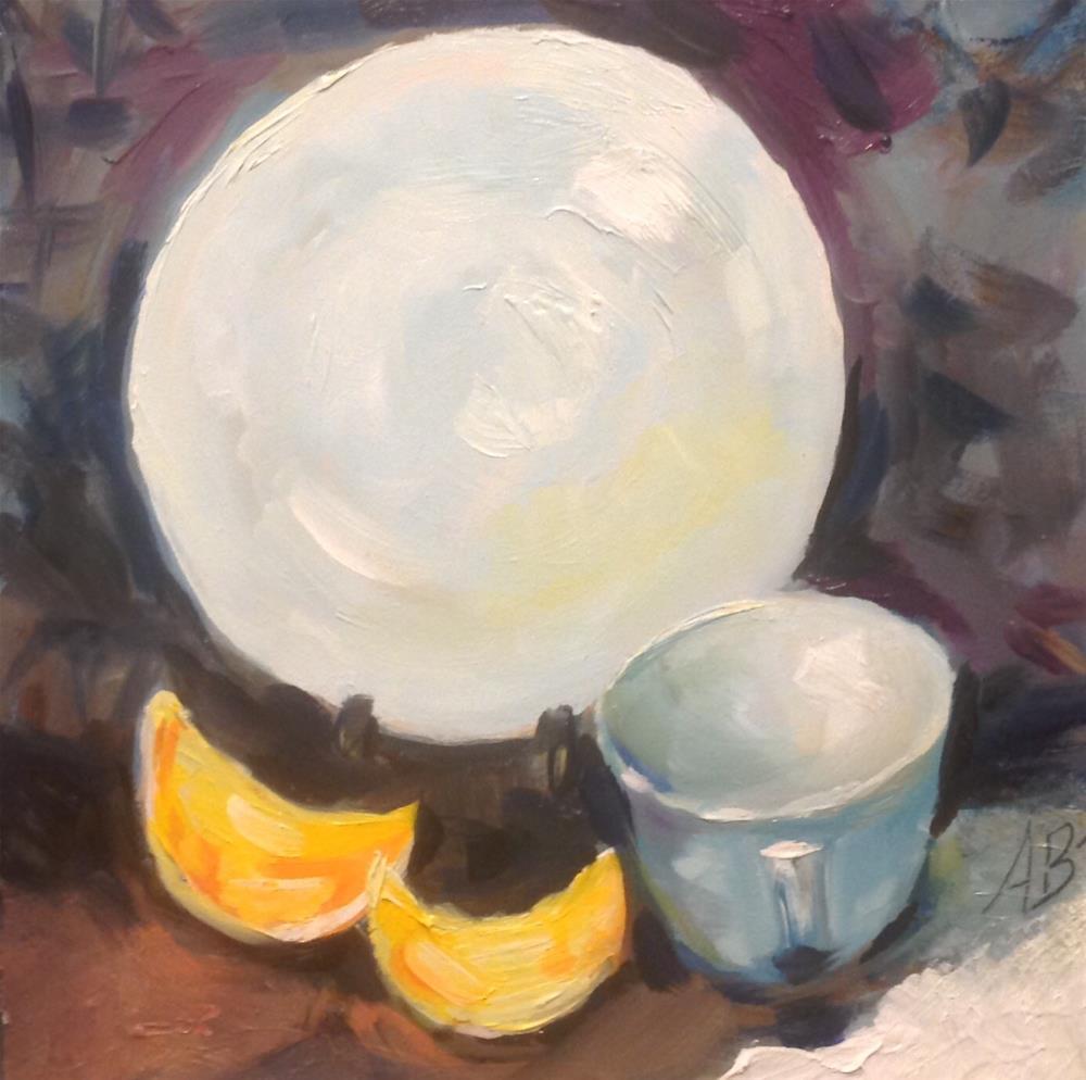 """White Plate Display"" original fine art by Annette Balesteri"