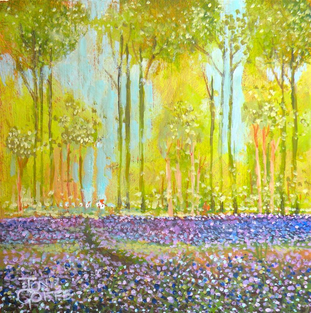 """Lavender Wood"" original fine art by Toni Goffe"