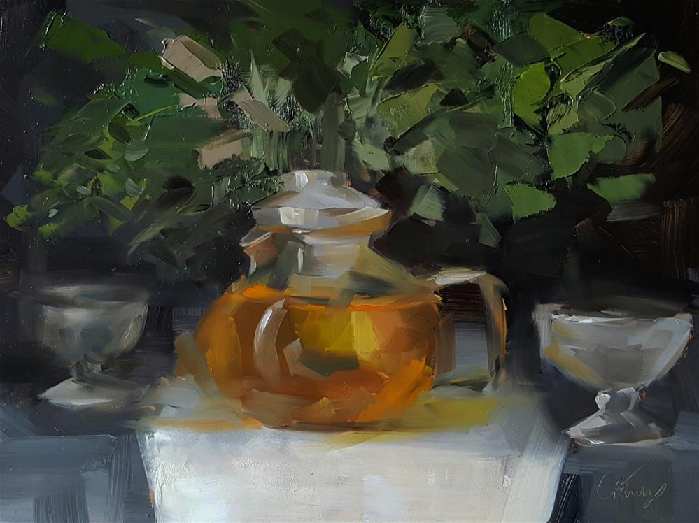 """Tea for Two"" original fine art by Cory Proulx"