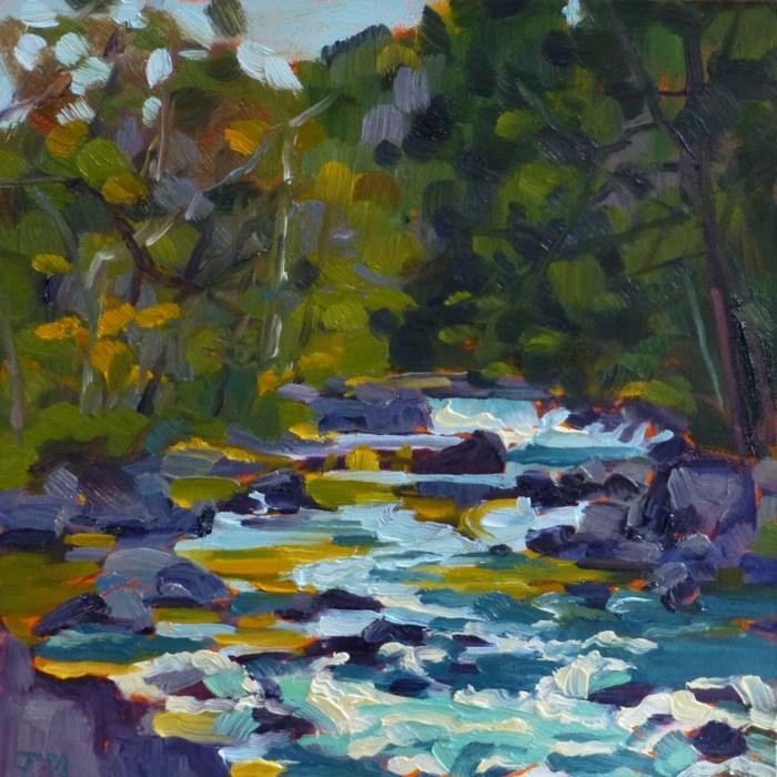 """Croton River"" original fine art by Jessica Miller"