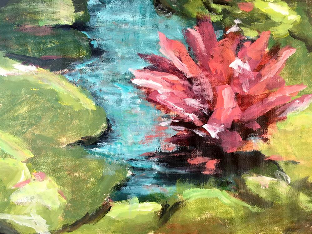 """Water Lily Class Demo"" original fine art by Susan Elizabeth Jones"