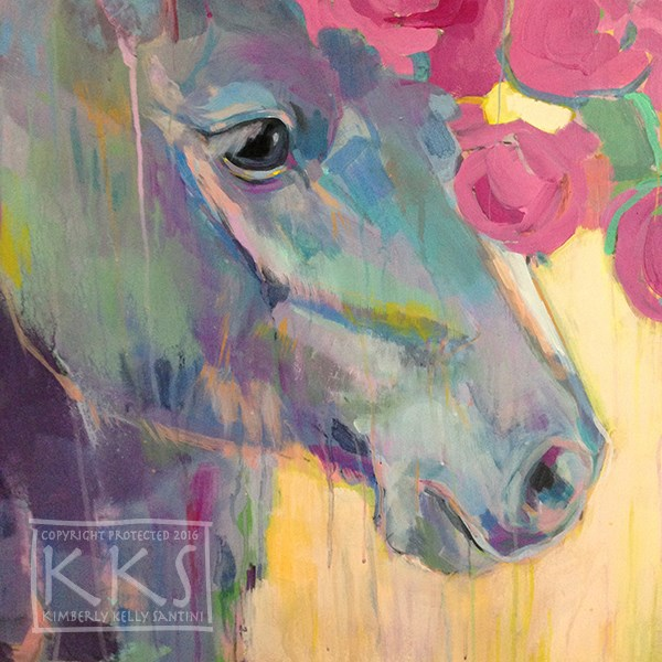 """P(e)ony, Finished"" original fine art by Kimberly Santini"