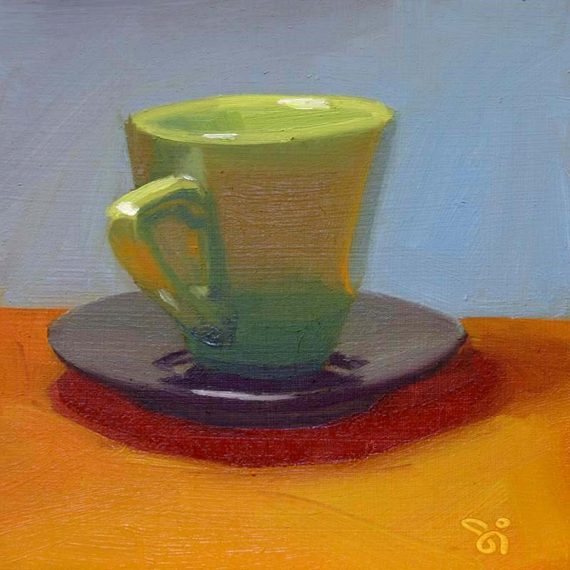 """Prepare for tea"" original fine art by Istvan Schaller"