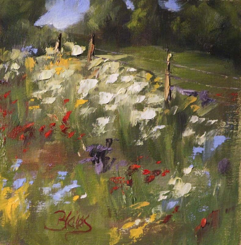 """Wildflowers en Plein Air"" original fine art by Pamela Blaies"