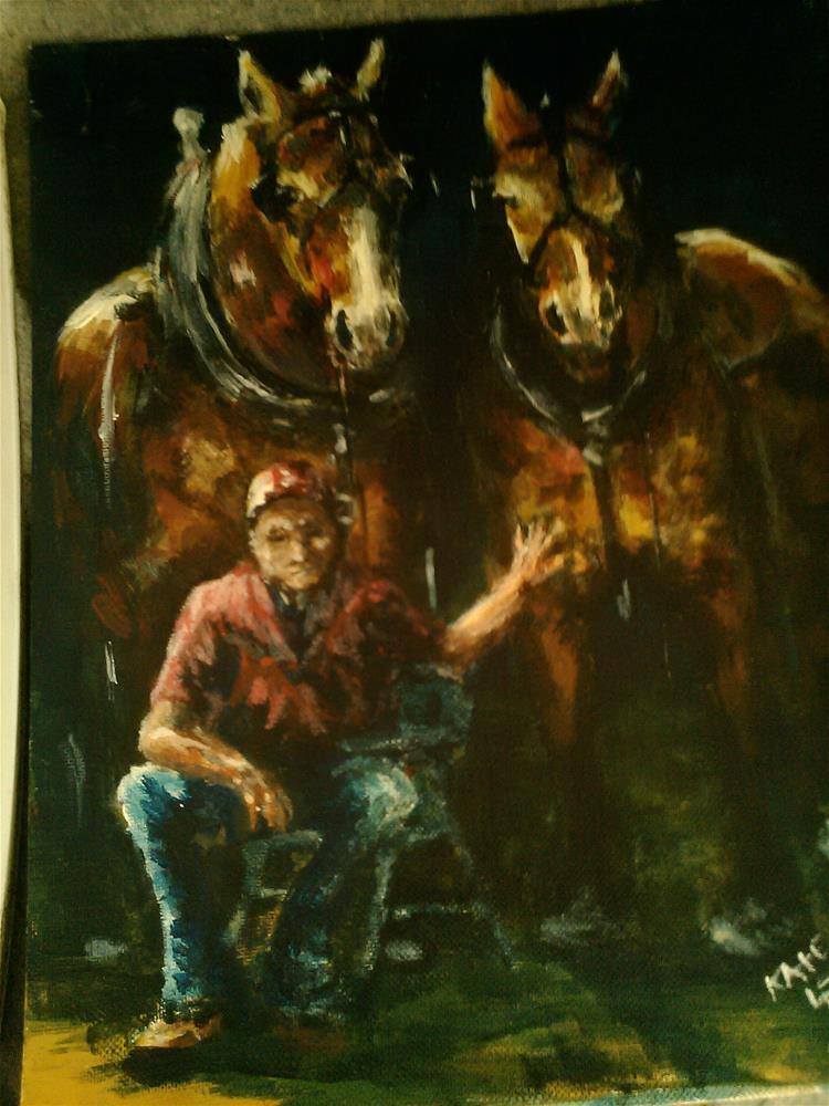 """Waiting their turn"" original fine art by Kate Less-Madsen"