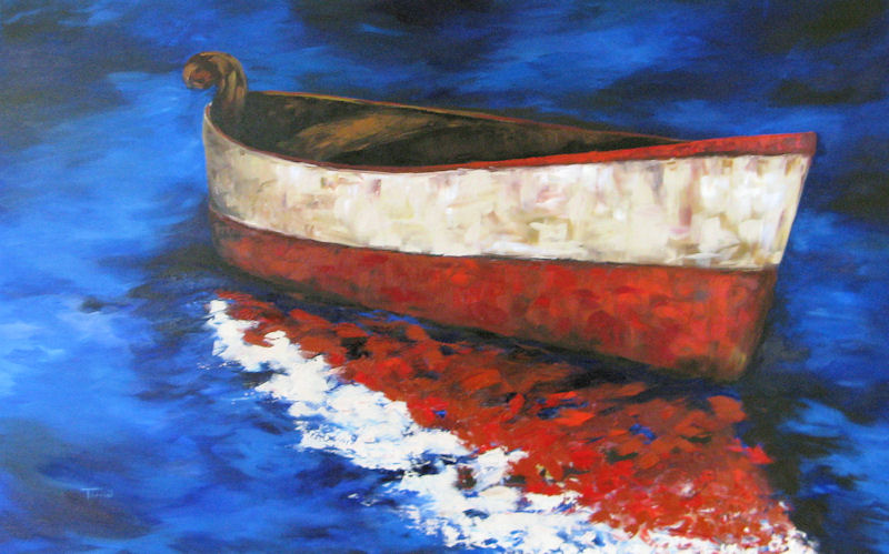 """The Wright Boat"" original fine art by Torrie Smiley"