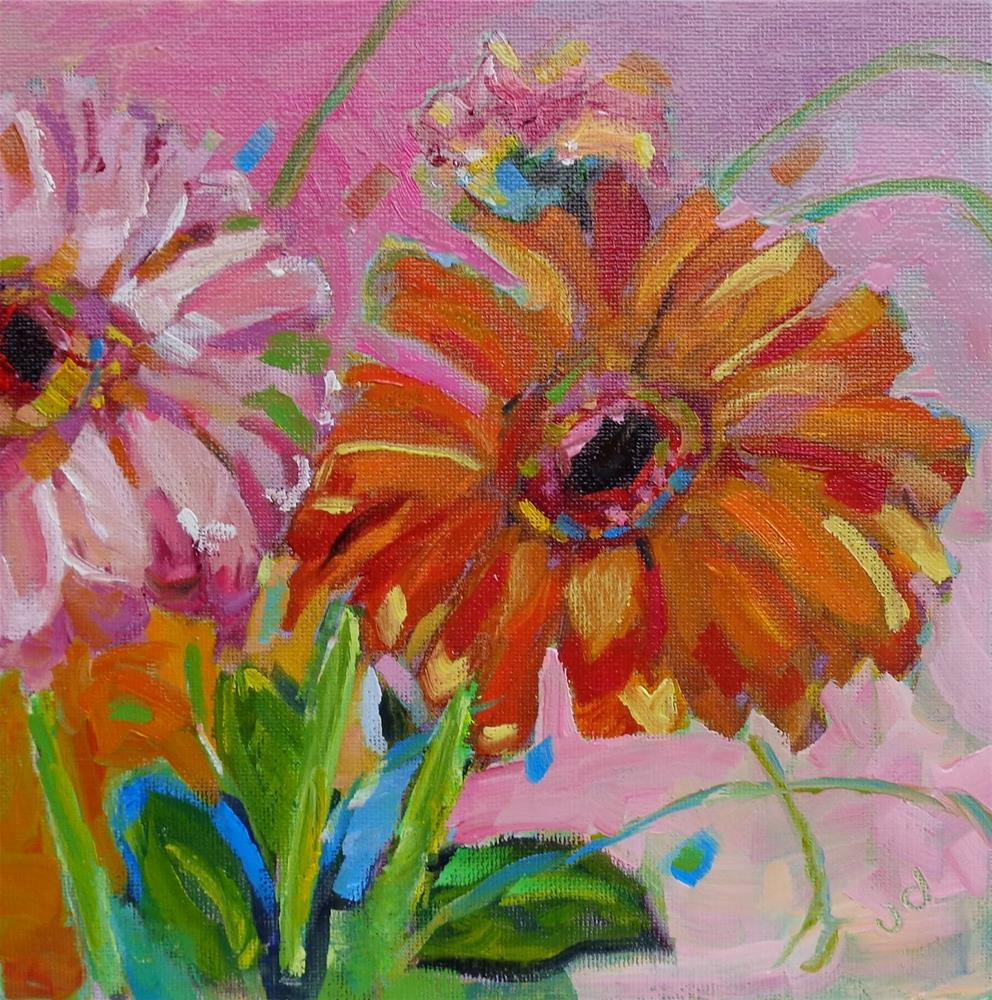 """Gerbera daisy"" original fine art by Jean Delaney"