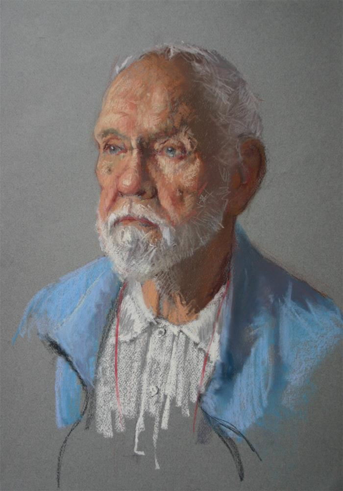 """Pastel demo of David"" original fine art by Liz Balkwill"