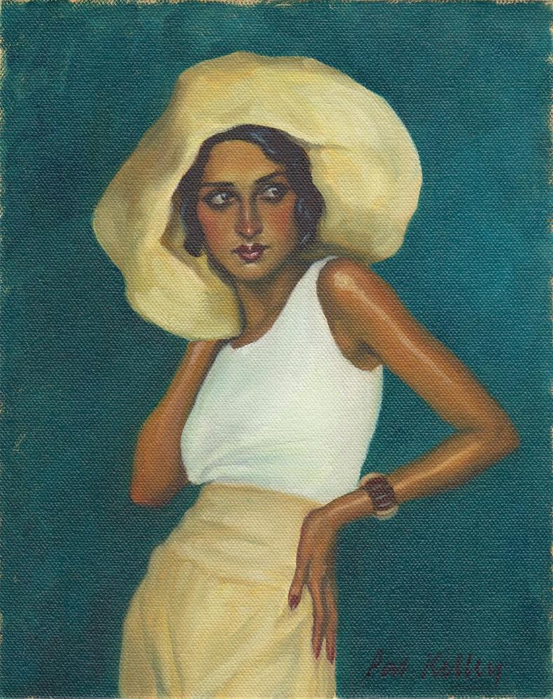 """""""Portrait of Renée Perle"""" original fine art by Pat Kelley"""