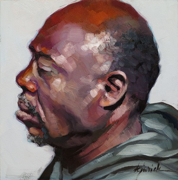 """200 Faces, No. 147"" original fine art by Karin Jurick"