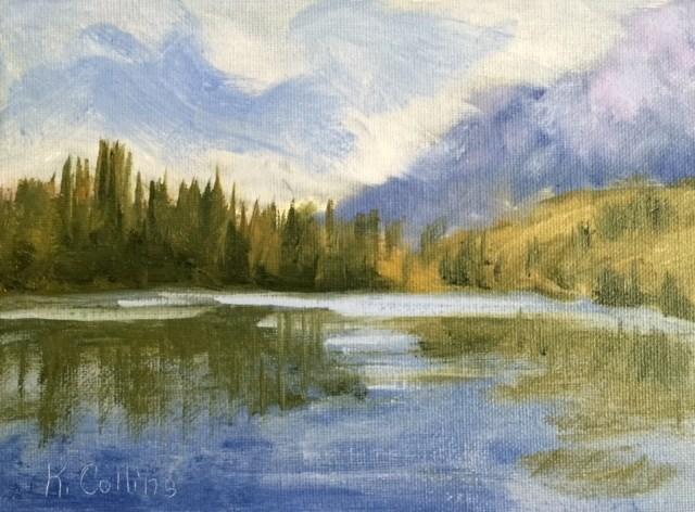 """Memories of String Lake"" original fine art by Kathy Collins"
