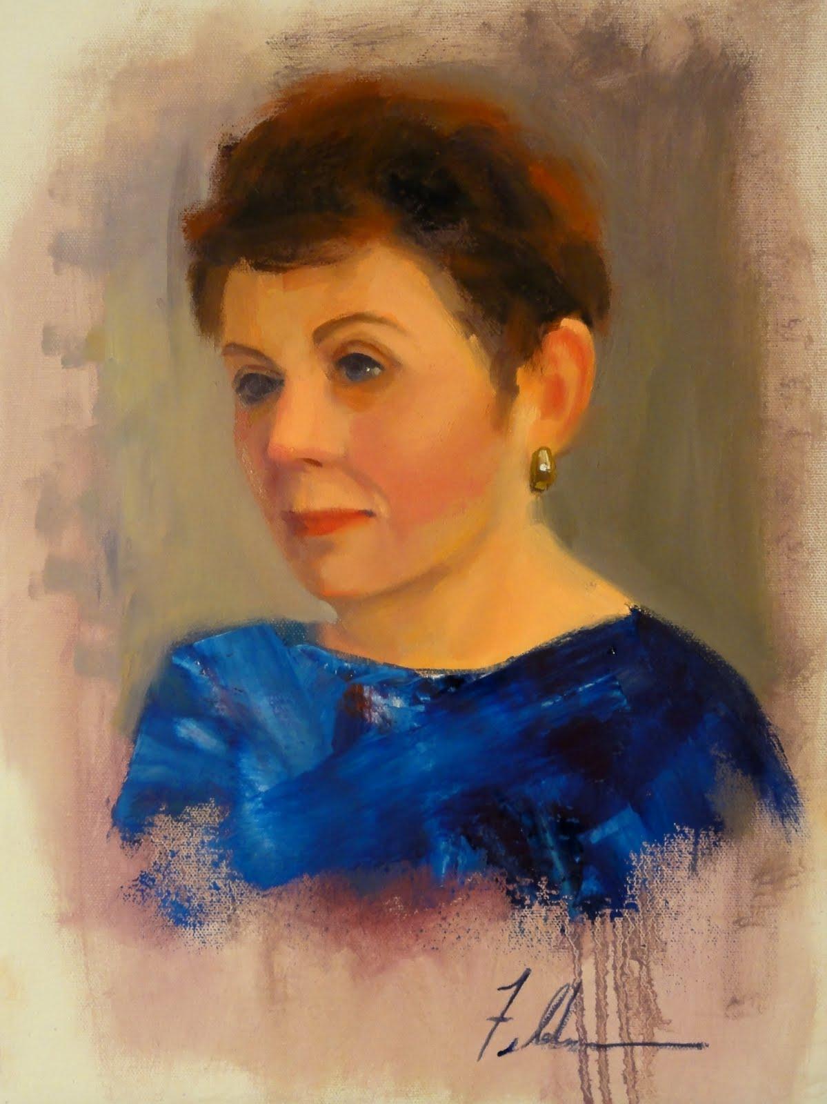 """Mary"" original fine art by Ann Feldman"