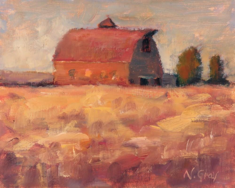 """Sunset Wheat Field"" original fine art by Naomi Gray"
