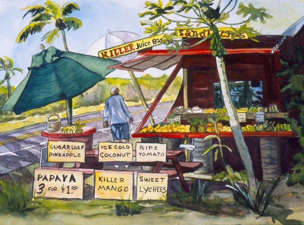"""Killer Juice Bar"" original fine art by Carol Cochran"