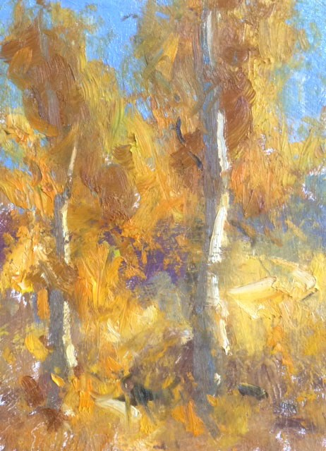 """Fall Aspens"" original fine art by Michael Clark"
