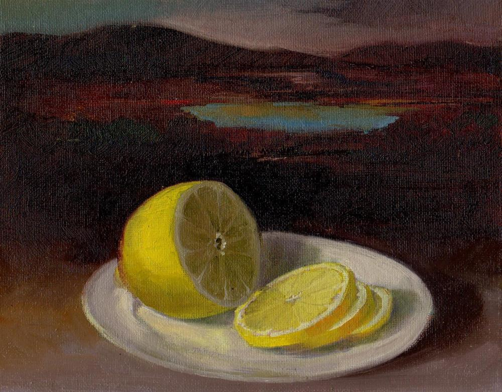 """lemon"" original fine art by V. DeBak"